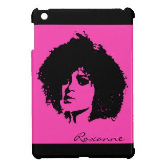 Mini caso del ipad afro negro rosado adaptable de