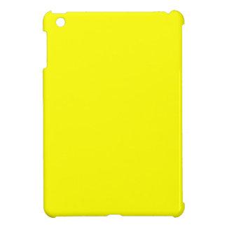 Mini caso del iPad amarillo de neón sólido