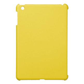Mini caso del iPad amarillo limón llano