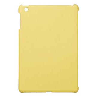 Mini caso del iPad amarillo llano