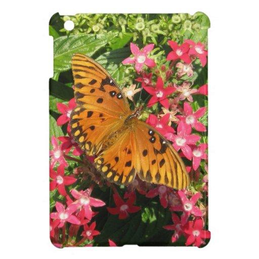 Mini caso del iPad anaranjado de la mariposa iPad Mini Cobertura