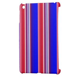 Mini caso del iPad azul blanco rojo