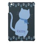 Mini caso del iPad azul del gatito iPad Mini Funda