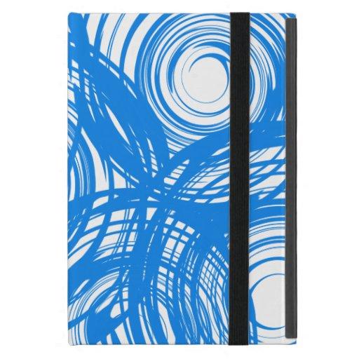 Mini caso del iPad azul del giro con Kickstand iPad Mini Cárcasa