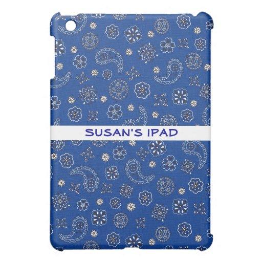 Mini caso del iPad azul del pañuelo iPad Mini Protector