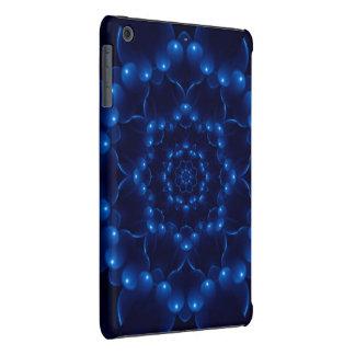 Mini caso del iPad azul eléctrico de la mandala Funda De iPad Mini