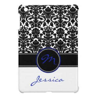 Mini caso del iPad azul, negro, blanco del damasco iPad Mini Carcasas