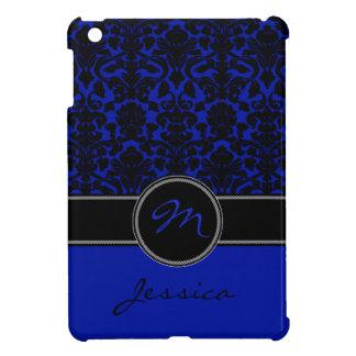 Mini caso del iPad azul, negro, blanco del damasco iPad Mini Coberturas