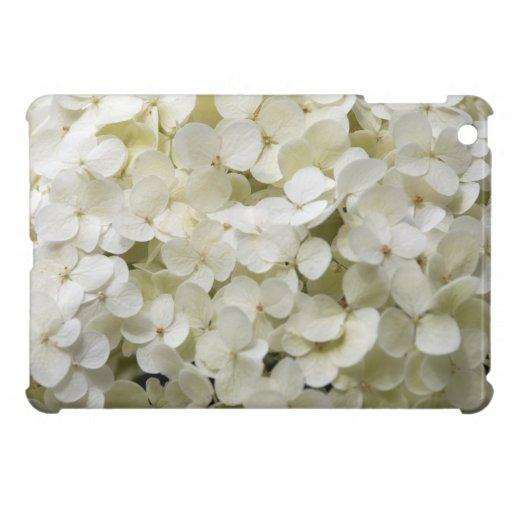 Mini caso del iPad blanco del Hydrangea