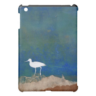 Mini caso del iPad blanco del pájaro