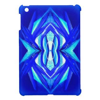Mini caso del iPad brillante listo azul del caso