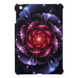 Mini caso del iPad brillante listo floral femenino
