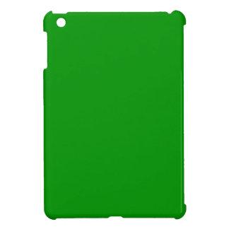 Mini caso del iPad brillante listo verde del caso