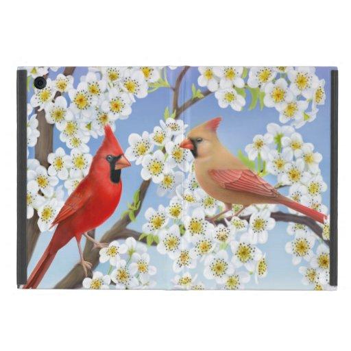 Mini caso del iPad cardinal rojo de los pájaros iPad Mini Cárcasa