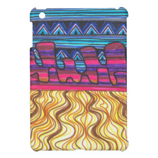 Mini caso del iPad colorido del desierto