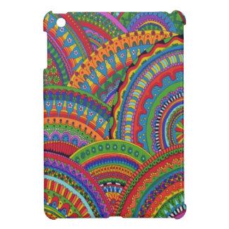 Mini caso del iPad colorido del teñido anudado