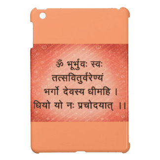 mini caso del ipad con el mantra de Gayatri