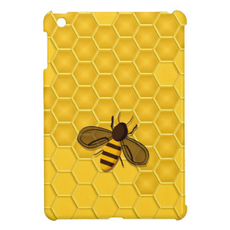 mini caso del iPad con la abeja en un panal