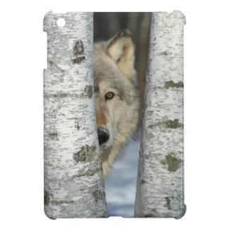 mini caso del iPad con la imagen del lobo en