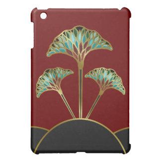 mini caso del iPad con las hojas del Gingko del ar