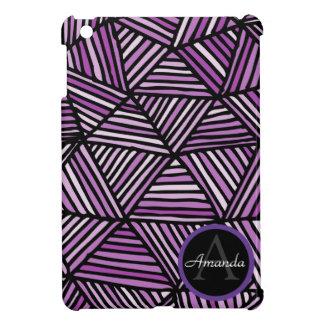 Mini caso del iPad con monograma geométrico iPad Mini Fundas