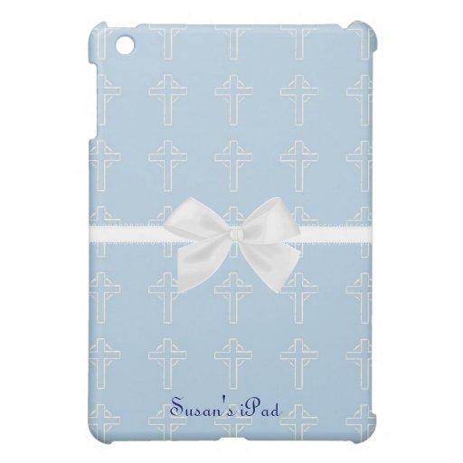 Mini caso del iPad cruzado azul y blanco iPad Mini Carcasa