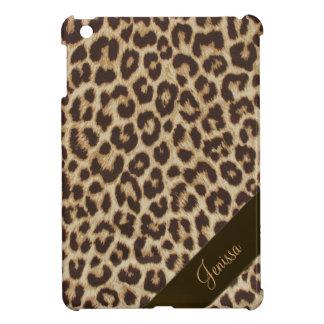 Mini caso del iPad de encargo del estampado leopar