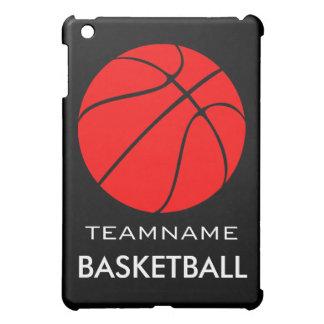 Mini caso del iPad de encargo rojo del baloncesto