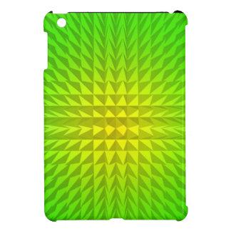 Mini caso del iPad de la explosión verde y amarill