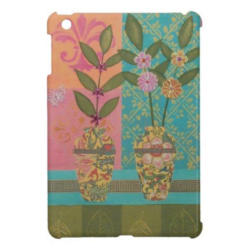 Mini caso del iPad de los floreros amarillos