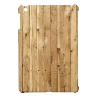 Mini caso del iPad de madera de la cerca