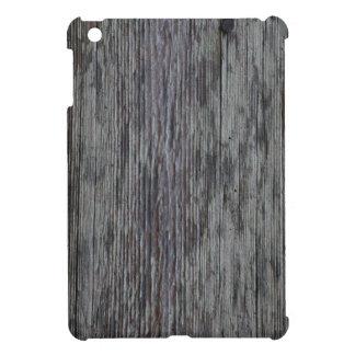 Mini caso del iPad de madera del grano