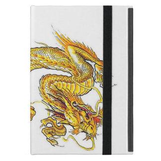 Mini caso del iPad de oro del dragón - Powis iPad Mini Cárcasa