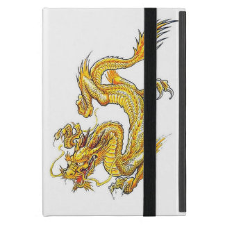 Mini caso del iPad de oro dual del dragón - Powis iPad Mini Funda