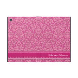 Mini caso del iPad elegante del damasco (fucsia) iPad Mini Fundas