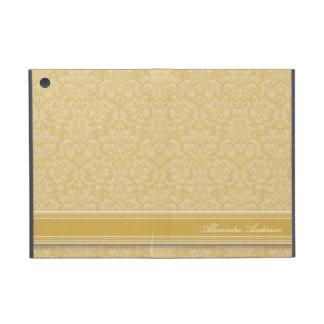 Mini caso del iPad elegante del damasco (oro) iPad Mini Protectores