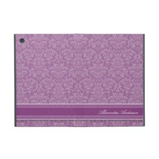 Mini caso del iPad elegante del damasco (púrpura) iPad Mini Fundas