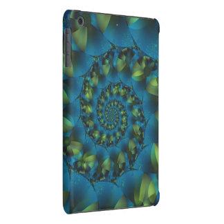 Mini caso del iPad espiral azul y verde del Carcasa Para iPad Mini Retina