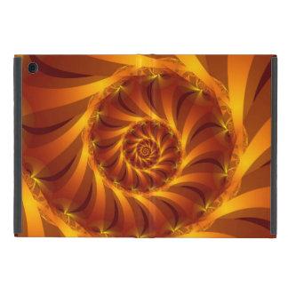 Mini caso del iPad espiral de oro del fractal iPad Mini Protectores