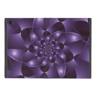 Mini caso del iPad espiral púrpura del fractal iPad Mini Fundas