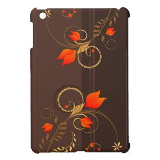 Mini caso del iPad floral de la decoración