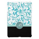 Mini caso del iPad floral del damasco