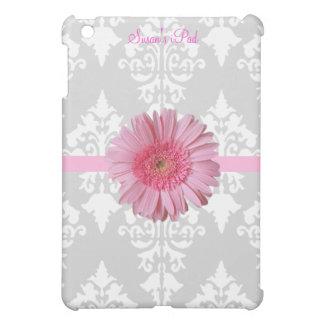Mini caso del iPad gris, blanco y rosado de la mar
