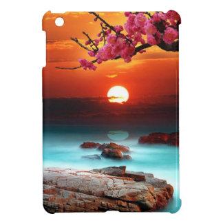 Mini caso del ipad hermoso de la puesta del sol