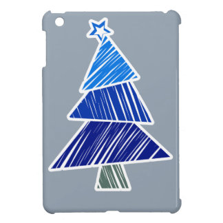 Mini caso del iPad incompleto azul del árbol de na iPad Mini Protectores