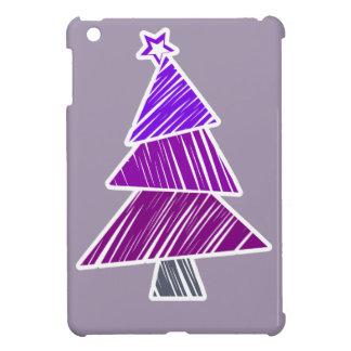 Mini caso del iPad incompleto púrpura del árbol de iPad Mini Carcasa
