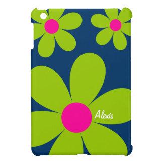 Mini caso del iPad lindo de la margarita - verde/r