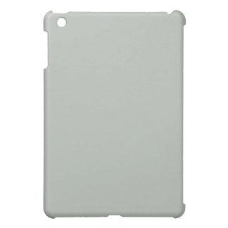 Mini caso del iPad llano de los gris plateados