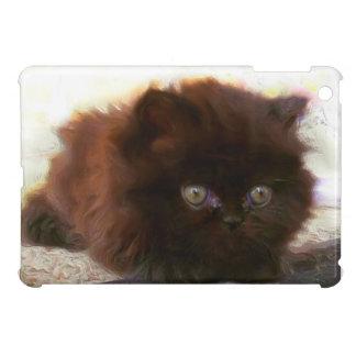 Mini caso del ipad persa negro del gatito