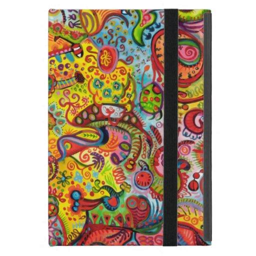 Mini caso del iPad psicodélico colorido con Kickst iPad Mini Protectores